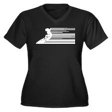 Cool surfer Women's Plus Size V-Neck Dark T-Shirt