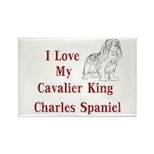 I Love My Cavalier Rectangle Magnet