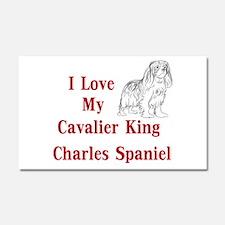 I Love My Cavalier Car Magnet 20 x 12