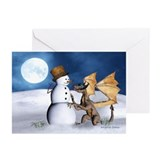 Dragon christmas Greeting Cards (10 Pack)