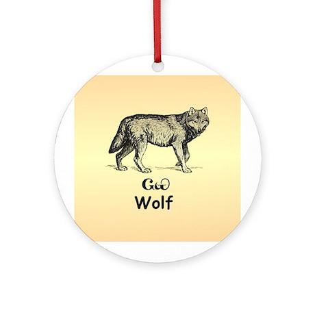 Cherokee Wolf Christmas Ornament (Round)