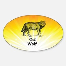 Young Cherokee Wolf Decal