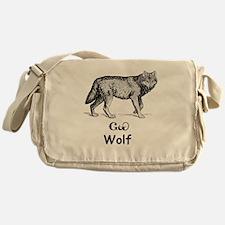 Young Cherokee Wolf Messenger Bag