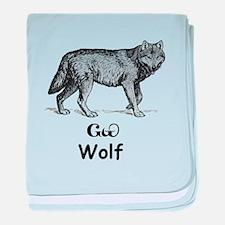 Young Cherokee Wolf baby blanket