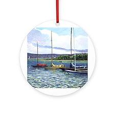 NM sail boat Ornament (Round)