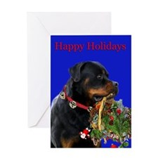 Rottweiler with a basket on a Card