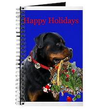 Rottweiler with a basket Journal