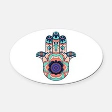 FINDING HARMONY Oval Car Magnet