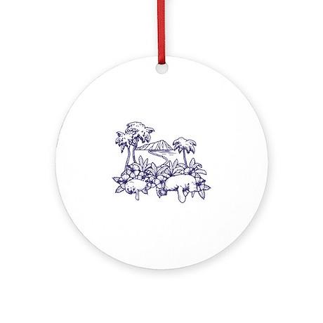 Surf island Ornament (Round)
