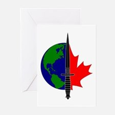 Joint Task Force 2 logo -Blk Greeting Cards (Pk of