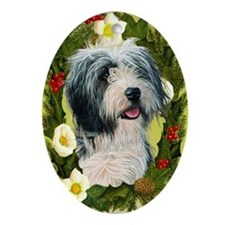 Bearded Collie Ornament (Oval)