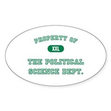 Political Science Oval Decal