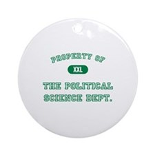 Political Science Ornament (Round)