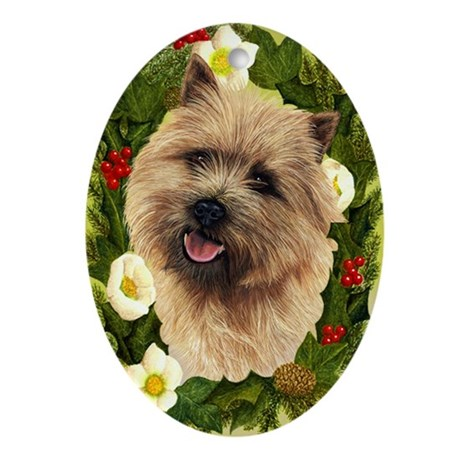 Cairn Terrier Ornament (Oval)