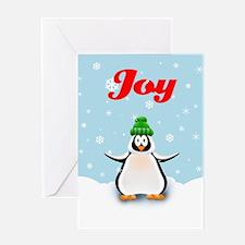 Penguin Snow Joy Greeting Card