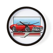 Red WT 68 Cutlass Wall Clock