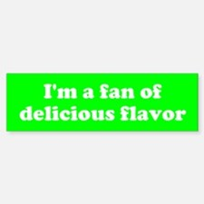 Psych Fan of Delicious Flavor Bumper Car Car Sticker