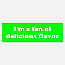 Psych Fan of Delicious Flavor Bumper Car Car Sticker