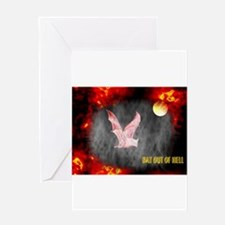 Jmcks Bat Out Of Hell Greeting Card