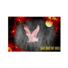 Jmcks Bat Out Of Hell Rectangle Magnet