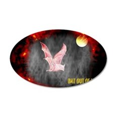 Jmcks Bat Out Of Hell 22x14 Oval Wall Peel