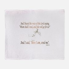 Isaiah 6:8 Throw Blanket