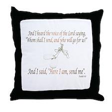 Isaiah 6:8 Throw Pillow