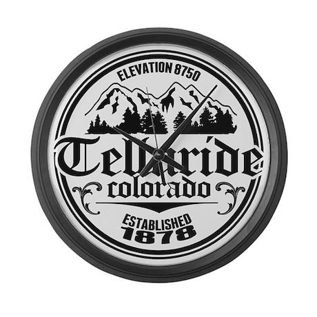 Telluride Old Circle Logo Large Wall Clock