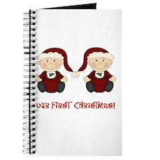 Twin Boys First Christmas Journal