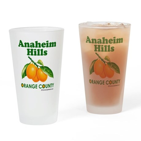 Anaheim Hills, Orange County Drinking Glass