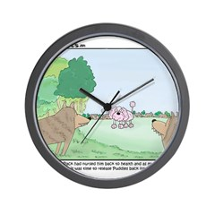 Poodles in the Wild Wall Clock