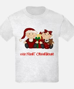Twin Boy and Girl 1st Christmas T-Shirt