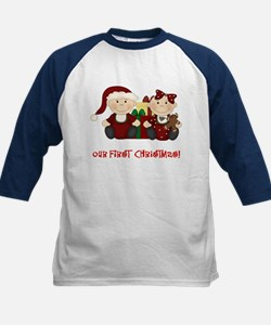 Twin Boy and Girl 1st Christmas Tee