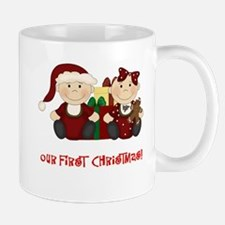 Twin Boy and Girl 1st Christmas Mug