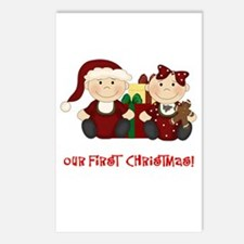 Twin Boy and Girl 1st Christmas Postcards (Package