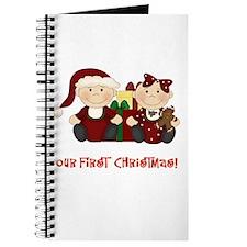 Twin Boy and Girl 1st Christmas Journal
