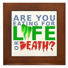 Life or Death Framed Tile
