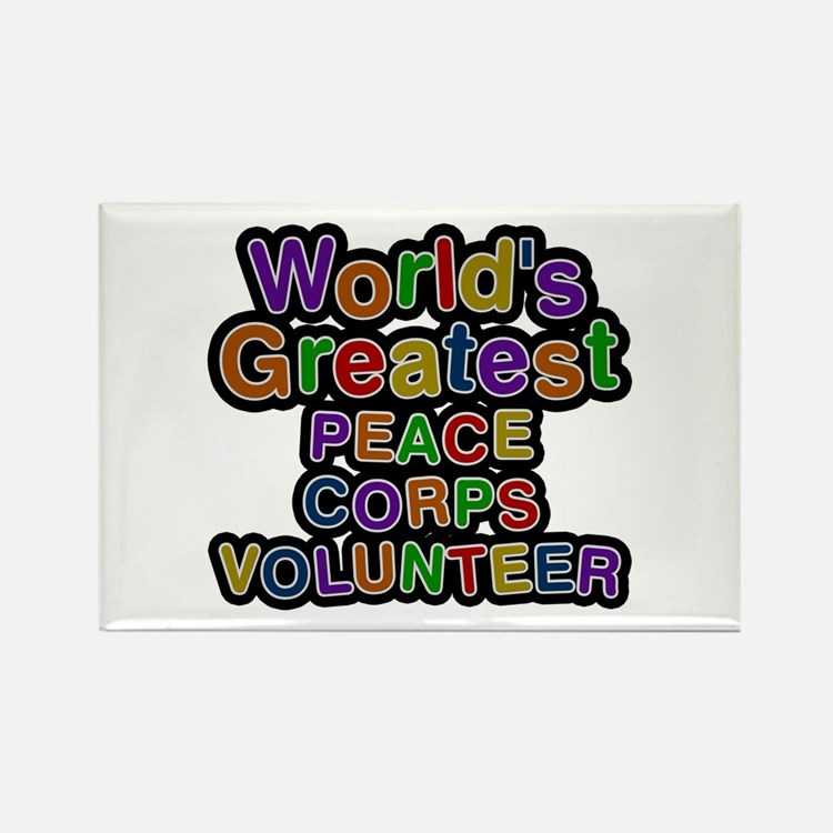 World's Greatest PEACE CORPS VOLUNTEER Rectangle M