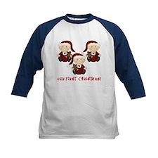Triplet Boys First Christmas Tee