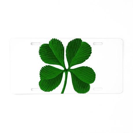 Lucky Four Leaf Clover Irish Aluminum License Plat