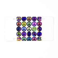 Mod Vintage Peace Aluminum License Plate