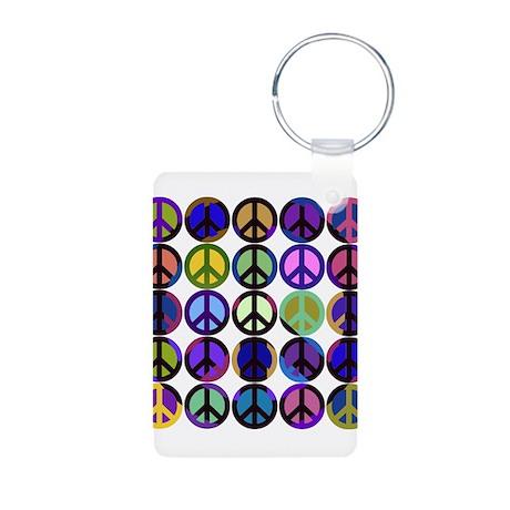 Mod Vintage Peace Aluminum Photo Keychain