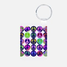 Peace Sign Retro Keychains