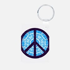 Tie-dye Peace Sign Keychains