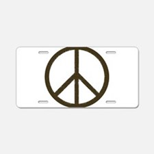 Cool Vintage Peace Sign Aluminum License Plate