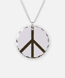 Cool Vintage Peace Sign Necklace