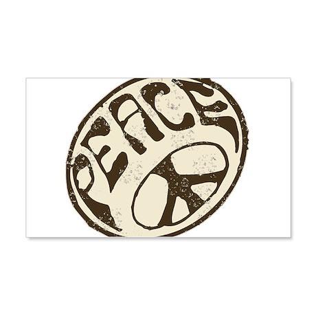 Retro Vintage Peace Sign 22x14 Wall Peel