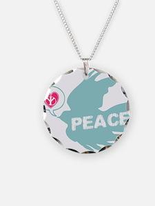 Peace Dove Anti war Necklace