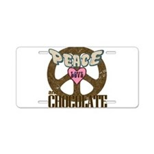 Peace Love and Chocolate Aluminum License Plate