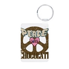 Peace Love and Chocolate Keychains